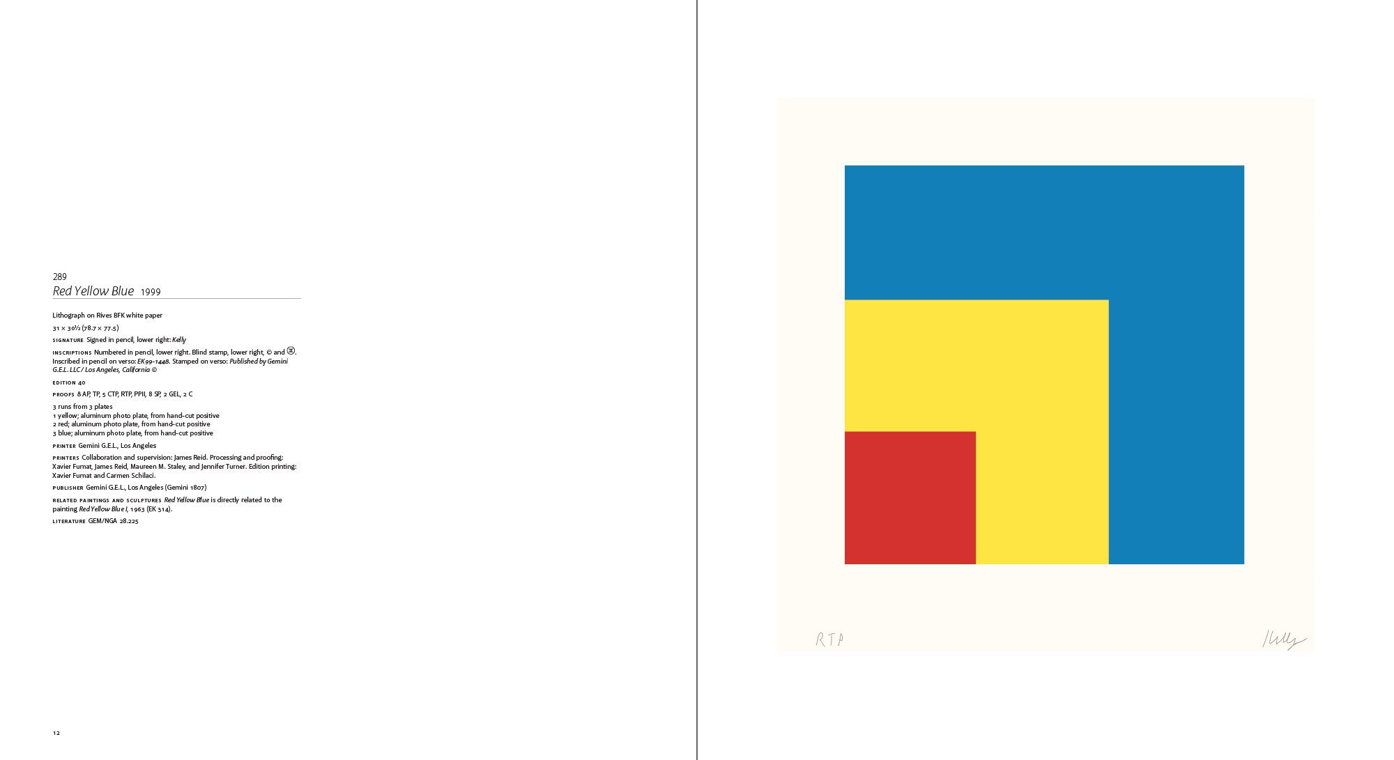 Xavier color printing - The Prints Of Ellsworth Kelly A Catalogue Raisonn Richard H Axsom 9780984986422 Amazon Com Books