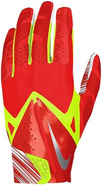 Misionero Fanático Compra  Amazon.com : Nike Men's Vapor Fly Reciever Football Glove (Challenge  red/Volt, Large) : Sports & Outdoors