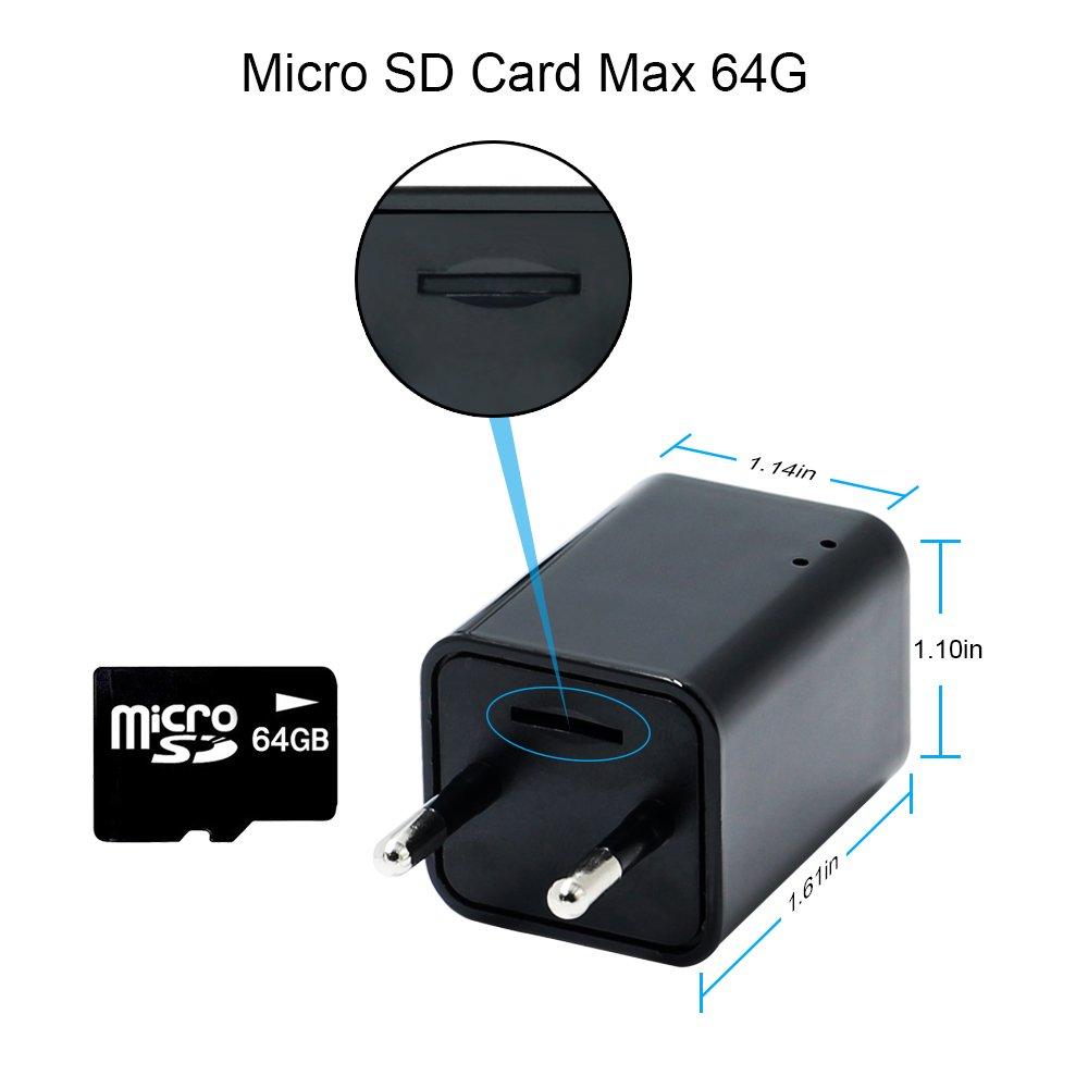 Cámara espía 1080P HD WiFi LXMIMI Cámara Oculta USB Cargador de Pared Adaptador de Teléfono Cámara Inalámbrica Cámara Nanny: Amazon.es: Bricolaje y ...