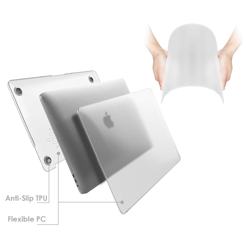 Claro Escarcha A1989//A1706//A1708 R/ígida Protecta de la Carcasa JETech Funda para Apple MacBook Pro 13 2018//2017//2016