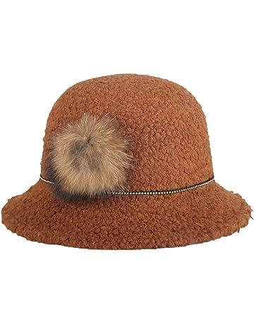 89295a15404c9 Leisial™ Caliente Sombrero de Mujer Sombrero de Aire Libre Redondo Sombrero  de Viaje Invierno Primavera