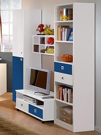 Wimex Kinderzimmer Wohnwand Daylight In Alpinweiss Marineblau