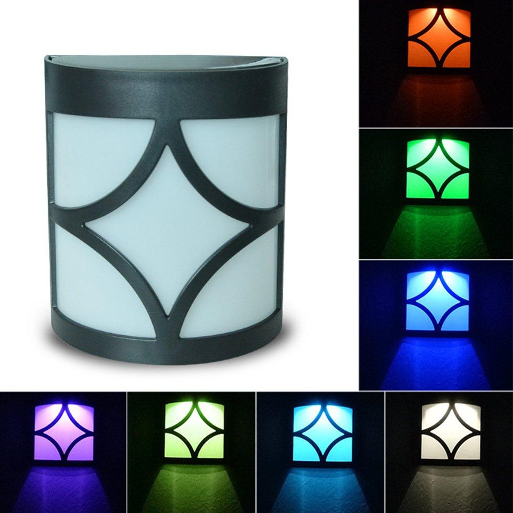 Etbotu Exquisite Waterproof LED Solar-Powered Yard Lamp Garden Wall Light Decoration
