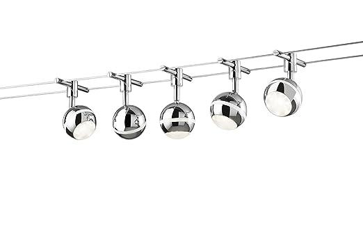 Beleuchtung Mit Seilsystem | Trio Leuchten Led Seilsystem Baloubet 778210506 Metall Kunststoff