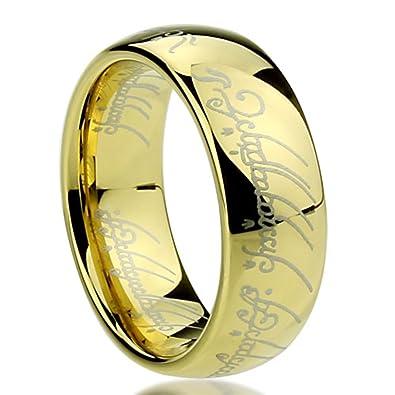 Kleine Schatze Titan Gelb Vergoldet Herr Der Ringe Ehering
