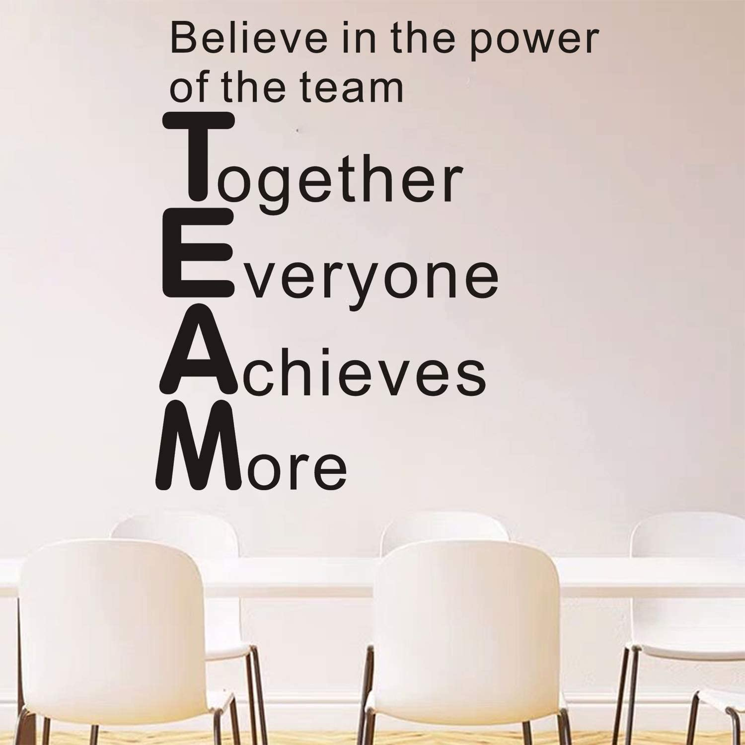 """AnFigure Quotes Wall Decal, Teamwork Wall Decals for Office, Playroom Classroom Inspirational Home Art Decor Vinyl Stickers Believe in The Power of The Team Together Everyone Achieves More 21""""x26.2"""""""