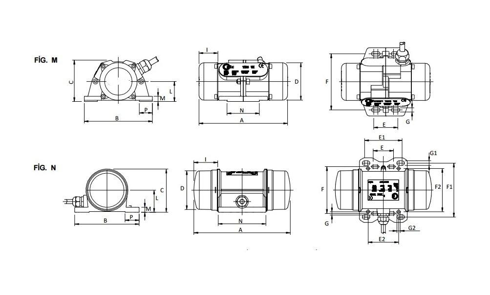 VY60M Vibration Moteur 230 V vibrations moteur cochonnet moteurs vibrant Moteur cochonnet