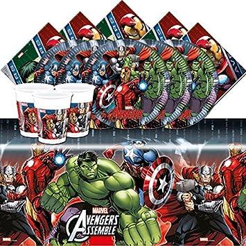 Amazon.com: Kit de Marvel Avengers Power Fiesta de ...