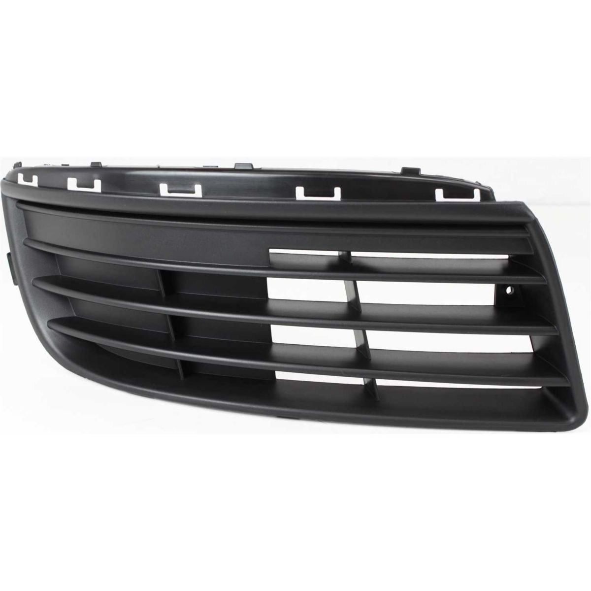 DAT 05-10 Volkswagen Jetta Black Without Fog Light Holes Front Bumper Cover Grille Grill Right Passenger Side VW1036107