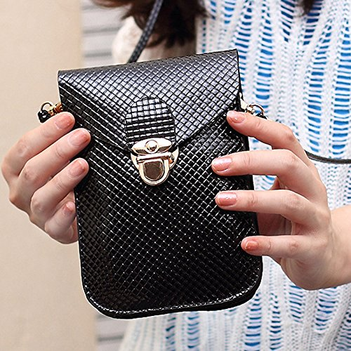 Black for Ladies Phone Bag Tote Body Messenger Leather Over Handbag Women Cross Shoulder Handbag Girls Bag Bags Bag Messenger Bag Skyeye Crossbody Pouches TBqHaw6