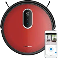 COAYU C560,Upgraded,Robot Vacuum Cleaner with Suction,Sweep and Mop 3 in 1, Panoramic Camera,App Control,Self-Docking,for Hard Floors to Low-Pile Carpets(Red)