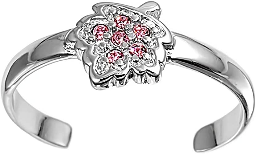 Glitzs Jewels 925 Sterling Silver Ring Plumeria Cute Jewelry Gift for Women in Gift Box