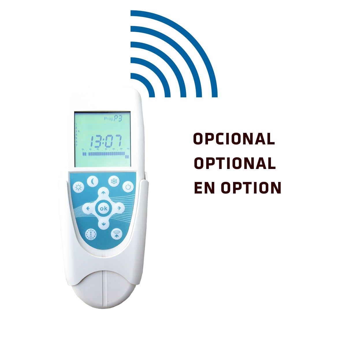 800 de Potencia Emisor T/érmico De Inercia De Fundici/ón De Aluminio Bajo Consumo Pantalla LCD y Funcionamiento Programable 5 Elementos Haverland RC5W