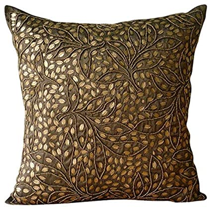 Amazon.com: Brown Throw Pillows Cover for Couch, Contemporary Floral ...