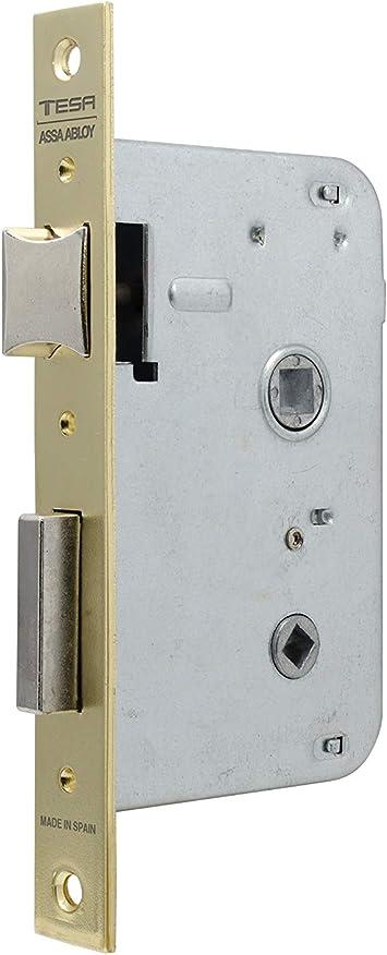 Tesa Assa Abloy, 200440HL Cerradura de embutir para puertas de madera 2004, Entrada 40mm, Latonado: Amazon.es: Bricolaje y herramientas