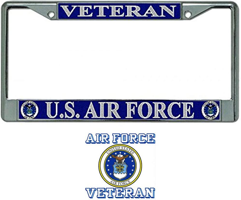 Woman Veteran U.S Army License Plate Frame Bundle with Woman Veteran Decal
