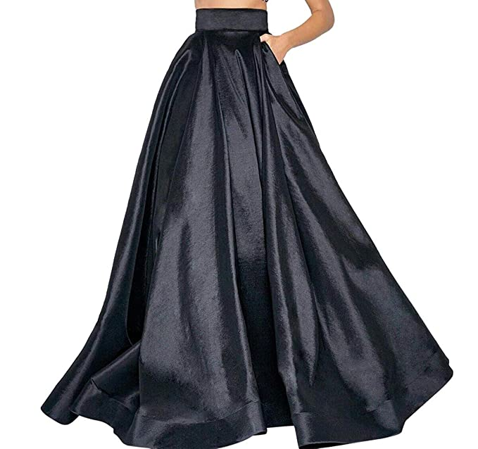 e00fc4ae8fb Nirmalayam Long Skirt for Women Flared Skirt of Heavy Smooth Silk with Cane  Inside  Amazon.in  Clothing   Accessories