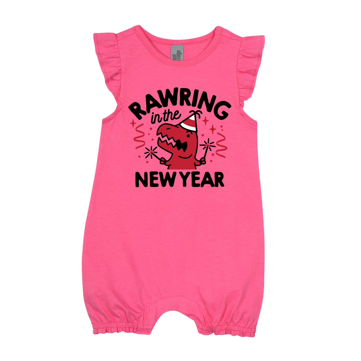First New Year InfantFlutter Romper Rawring in New Year