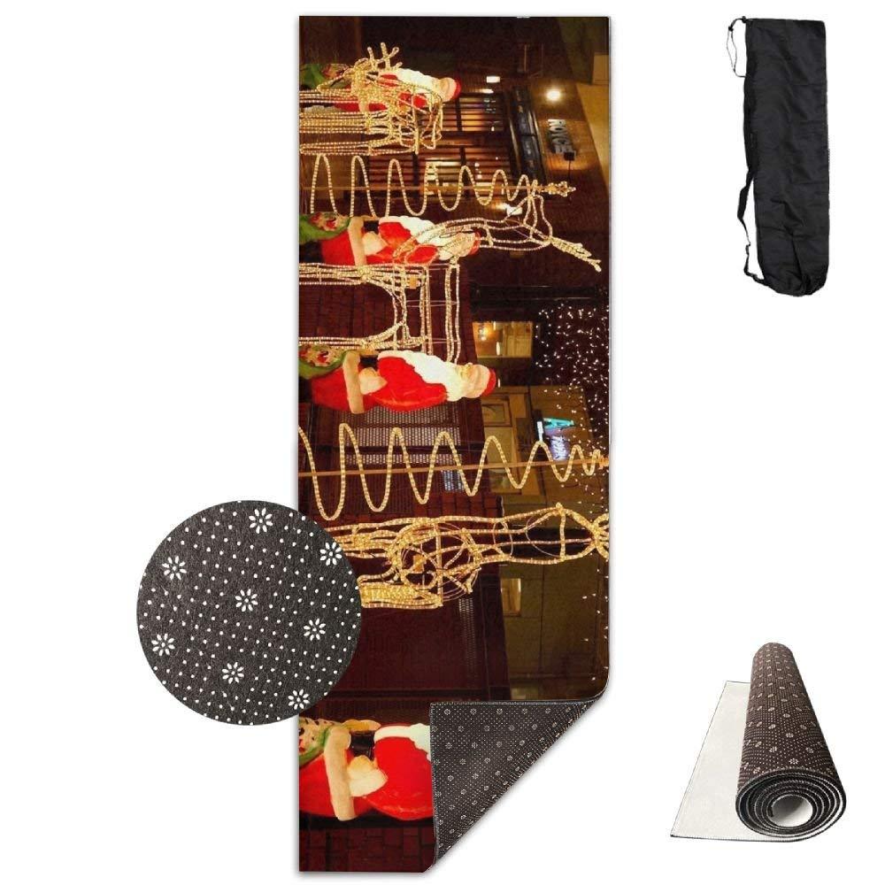 Santa Claus Reindeer Garlands Street Night Holiday Christmas ECO Aqua Power Kinematic Iyengar Kundini Hot Pilates Gymnastics Hatha Yoga Mat and Other Mats That Need to Be Performed On The Ground