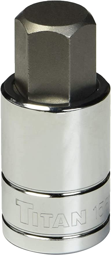 6 Piece Titan Tools 42906 1//2 Drive Torsion Core Metric Impact Hex Bit Socket Set