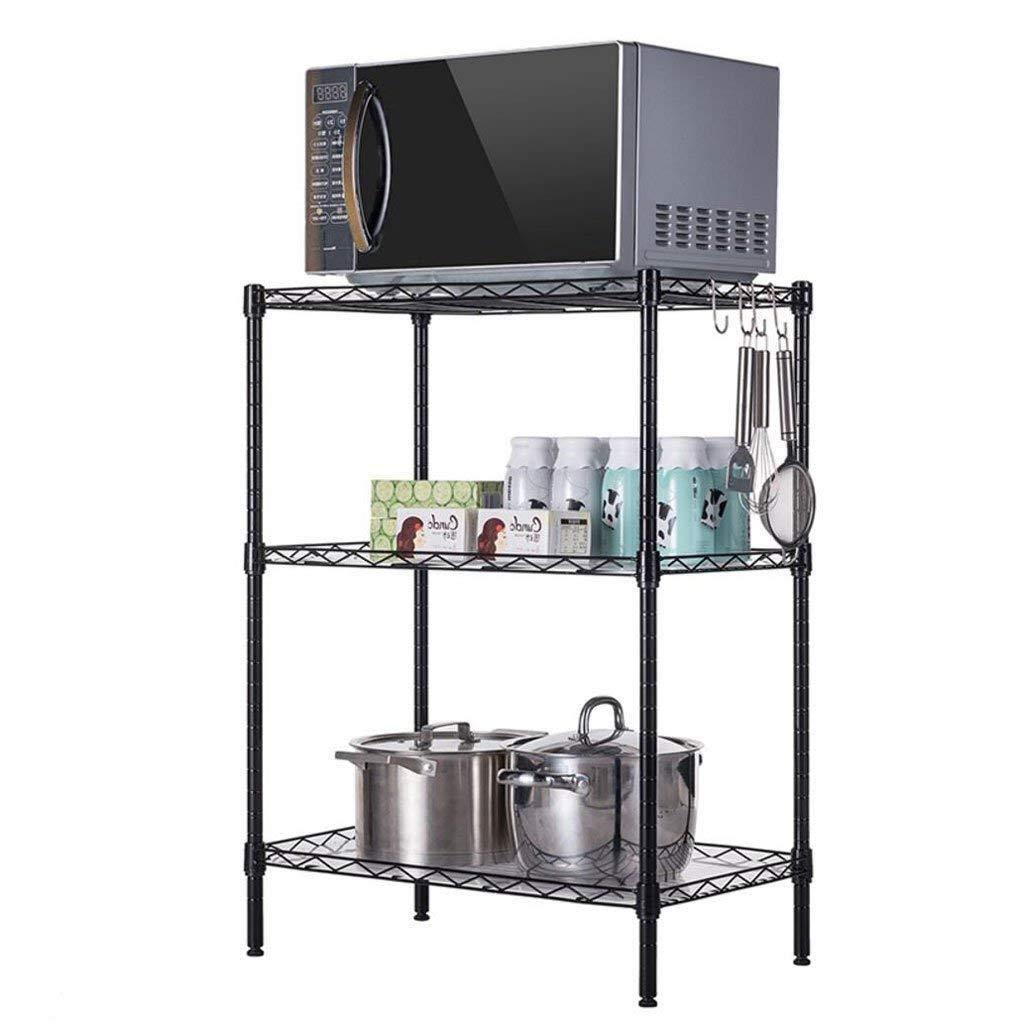 RDMZ Kitchen Shelf Cupboard Storage Rack Spice Rack Dish Rack Floor Multi-Layer Storage Rack Household Microwave Oven Shelf
