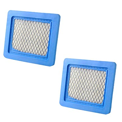 (2 Pack) Air Filter Replaces Briggs & Stratton # 491588S Flat Air Filter Cartridge : Garden & Outdoor