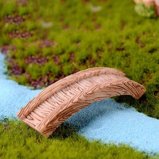 KWOSJYAL Mini Esculturas Pequeñas Jardín De Hadas Miniatura Bonsai Decoración Artesanía Figuras Decorativas Micro Paisaje Casa Juguete Accesorios 2 N Puente: Amazon.es: Jardín
