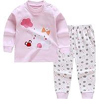 Pijamas de Manga Larga para Niños, Morbuy Pijamas Dos Piezas Bebe Niño y Niña Otoño Suave Y Cómoda Ropa 100% Algodón…