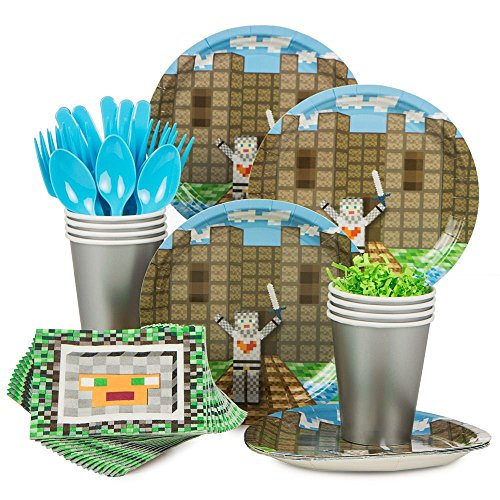 Costumes And Party Supplies (Minecraft Inspired Medieval Standard Kit (Serves 8) - Party Supplies by Costume SuperCenter)
