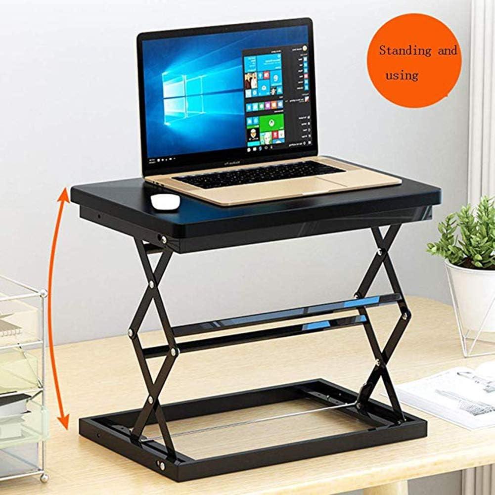 Notebook Table Folding Lift Table Ergonomic Standing Up Work,Black Computer Lift Desk Riser Height Adjustable Sit Stand Desk Standing Desk Converter