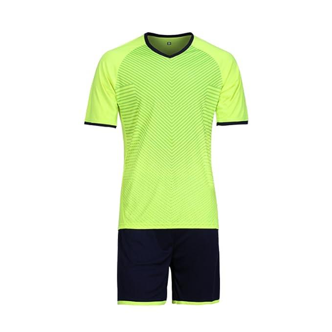 ff3fdd0c7 Yefree Mens Football Soccer Jerseys Football Jersey Shirts Sports wear  Jersey and Short  Amazon.co.uk  Clothing