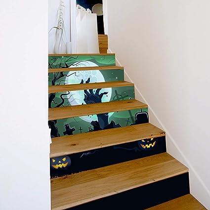 FANFU - Adhesivo Decorativo para Pared, diseño de Escalera de Mano Fantasma en 3D: Amazon.es: Jardín