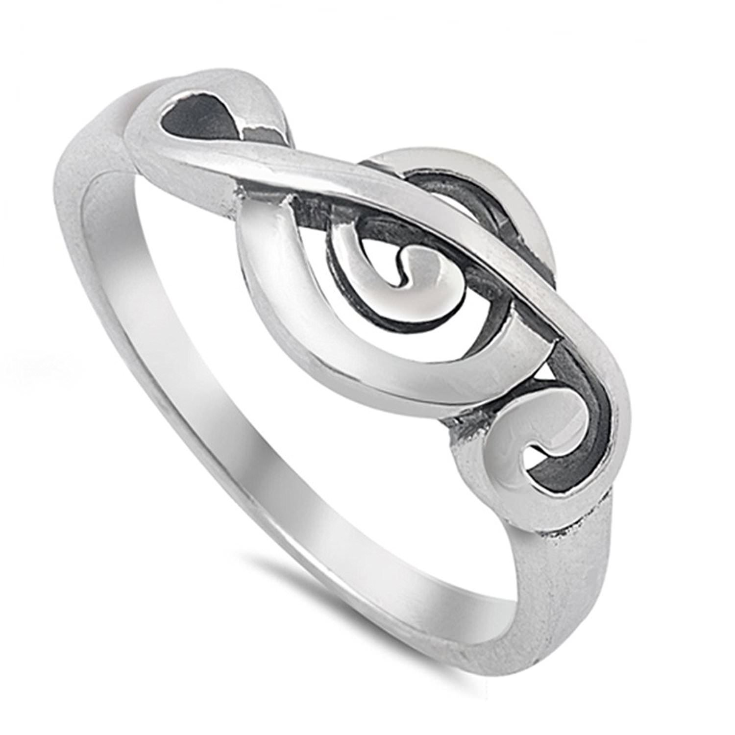Amazon.com  Musical Symbol Treble Clef Ring 925 Sterling Silver Vintage  Style Jewelry Sizes 4-10  Jewelry f71d22eb776b