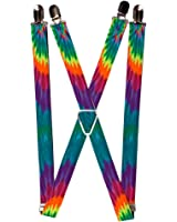 Buckle-Down Buckle-Down Suspender - Tie Dye Accessory, -Tie Dye, One Size