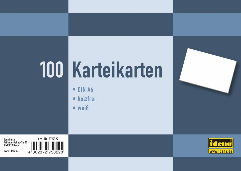 100/pezzi bianco /Cartoncini DIN A6 Idena 375021/