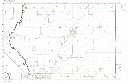 Amazon Com Plymouth County Iowa Ia Zip Code Map Not Laminated