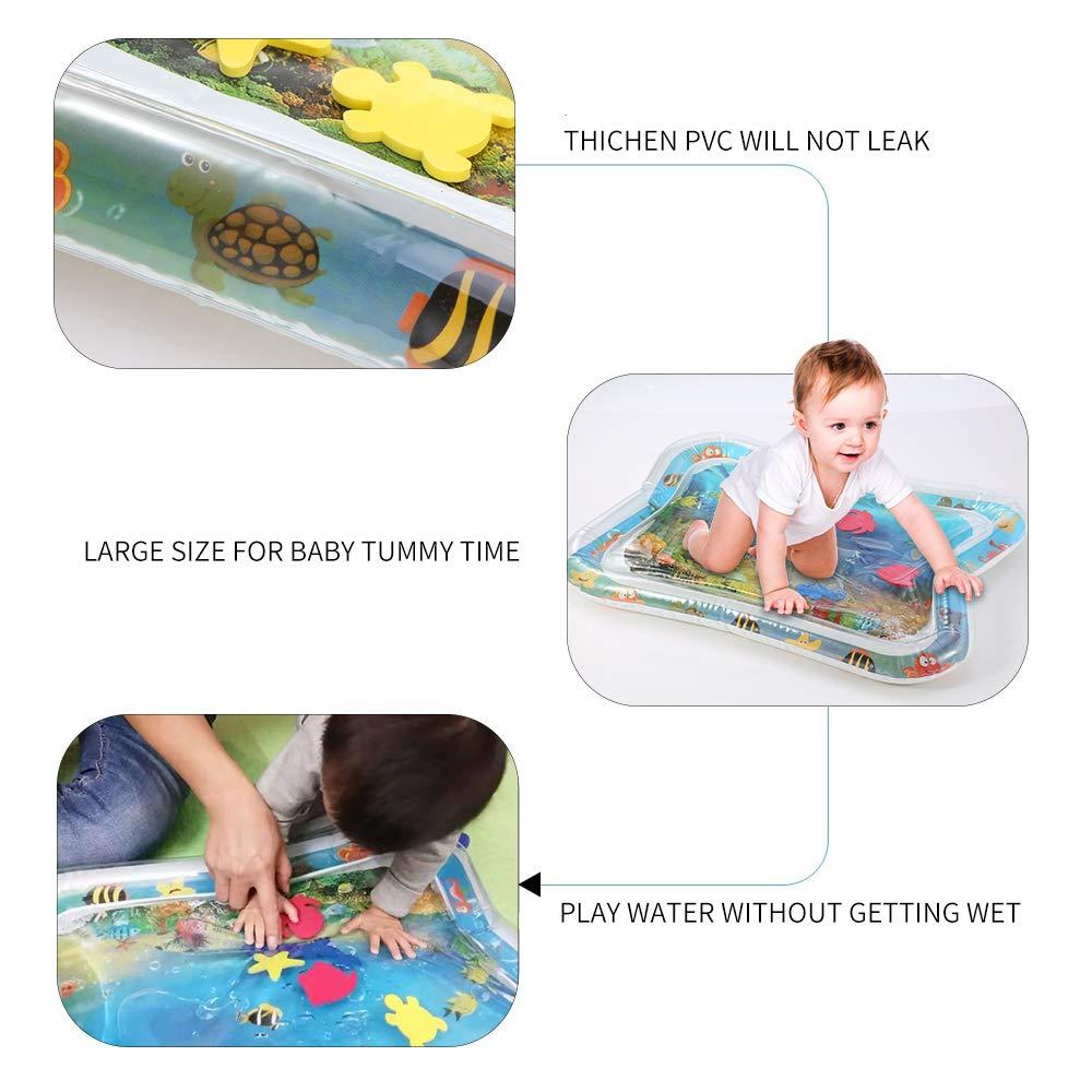 Emwel Wassermatte Baby Babyspielmatten f/ür Bauchzeitaktivit/ät Indoor und Outdoor Kinderspielzeug Baby Spielzeuge 3 6 9 Monate