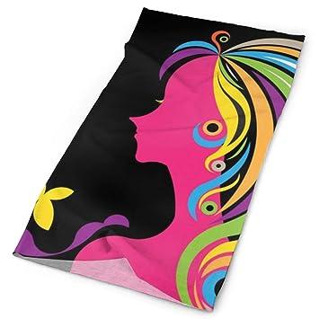 Hectwya Handbands Beautiful Woman Silhouette con una máscara ...