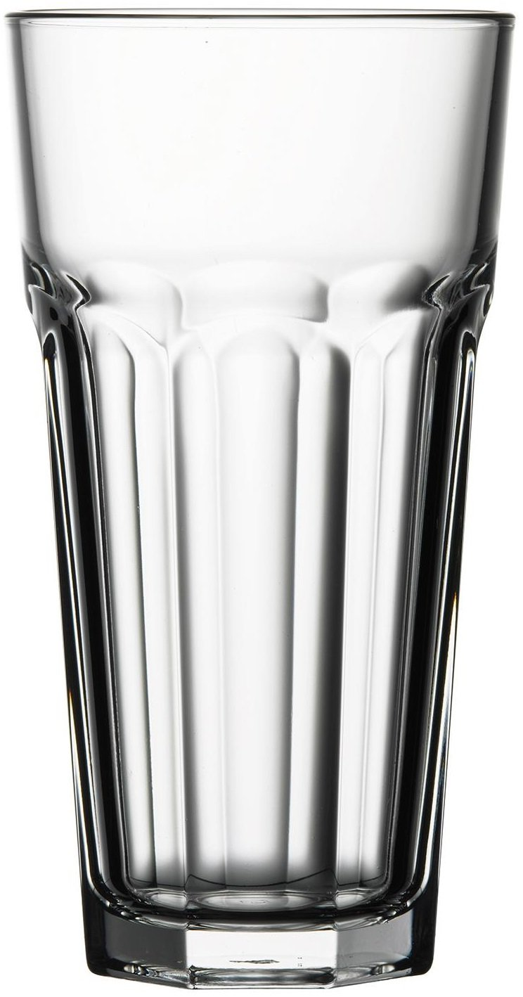 Circleware Cubic Drinking Glasses, 16 Ounce, Set of 4