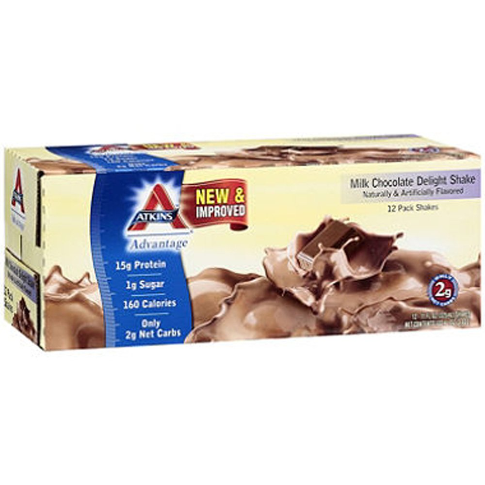 SCS Atkins® AdvantageTM Milk Chocolate Delight Shake - 11 Fl. Oz. - 12 Ct. by Atkins