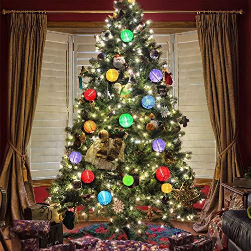 Vigdur Solar - Lantern Fairy String Lights Waterproof Indoor Outdoor Decorative-Lights Multicolor for Home Patio Garden Wedding Party Bedroom Use