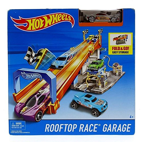Hot Wheels Rooftop Race Garage with Tune Up Shop