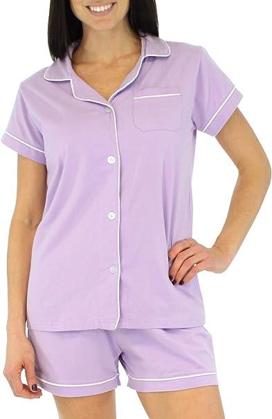 Sleepyheads Conjunto de Pijama y Camisa de Manga Corta con Botones, Mangas Cortas y Ropa de Dormir para Mujer (SHCS1855-5056-XL): Amazon.es: Ropa y accesorios