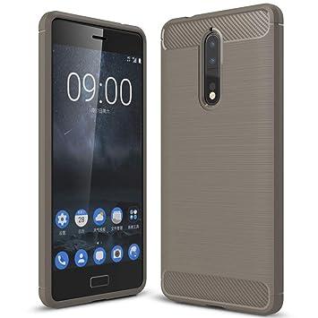 United Case Cáscara De Luz para Nokia 8   Gris Silicone TPU ...