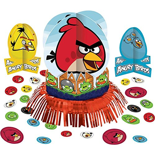 Amscan Unisex Adult Angry Birds Table Decorating Kit Multi-colored Medium ()