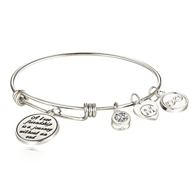 A true friendship is a journey without an end bracelet jewelry 417IDHXlQu