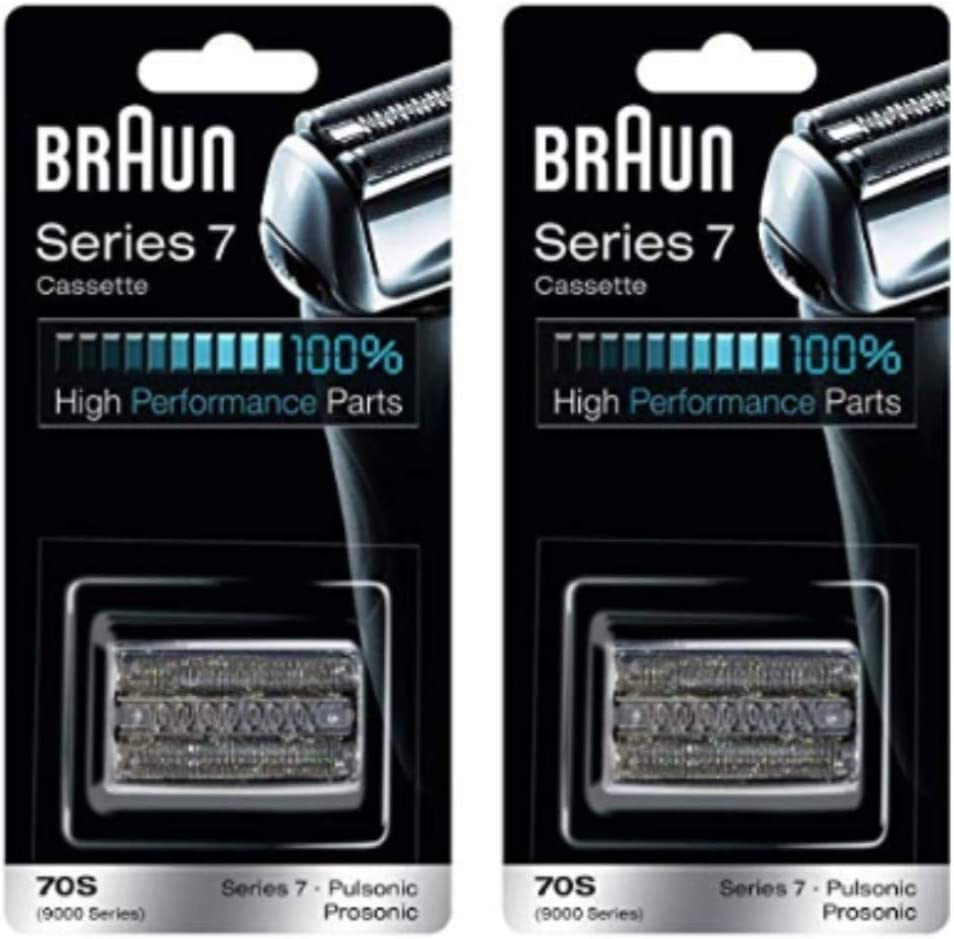 Braun Series 7 Pulsonic 70S (9000 Series) Cassette Replacement, Pack of 2