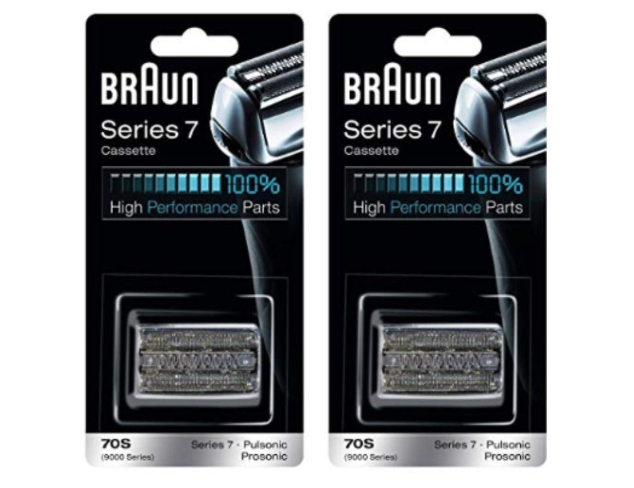 Braun Series 7 Combi 70S Cassette Replacement (Formerly 9000 Pulsonic)-2 Pack (2 Refills)