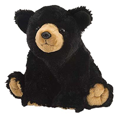 Wild Republic Black Bear Plush, Stuffed Animal, Plush Toy, Gifts for Kids, Cuddlekins 12 Inches: Toys & Games