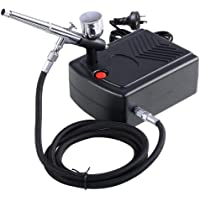 Yescom Mini Compressor Kit Dual Action Airbrush Air Brush Spray Gun 7cc Set